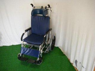 【中古車椅子】《Sランク品》松永製作所 リクライニング車椅子 MH-4R(WCMA301)