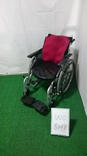 【Bランク 中古 車椅子】日進医療器 自走式車椅子 座王 NA-506W(WC-8048)