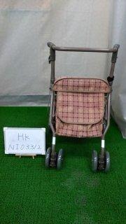 【Bランク品 中古 歩行器】島製作所 シンフォニーSP 茶 (HK-NI03312)
