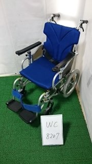 【Aランク品 中古 車椅子】カワムラサイクル 介助式車椅子 KZ16-38(WC-8207)