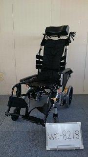 【中古 リクライニング車椅子 Bランク】松永製作所 リクライニング車椅子 マイチルトコンパクト MH-CR3D (WC-8218)
