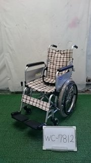 【Bランク 中古 車椅子】カワムラサイクル 自走式車椅子 KAK18-40 介ブレ無 こまわりくん (WC-7812)