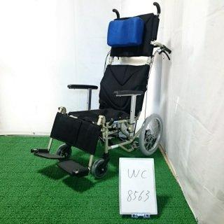 【中古 リクライニング車椅子 Bランク】カワムラサイクル リクライニング車椅子 介助式 KPF16-40(WC-8563)