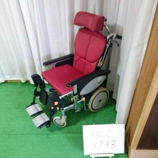 【中古 リクライニング車椅子 Bランク】松永製作所 リクライニング車椅子 オアシス OS-12TRS S&E付(WC-8733)