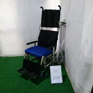 【中古 リクライニング車椅子 Bランク】カワムラサイクル リクライニング車椅子 介助式 KPF16-40LO(WC-8566)