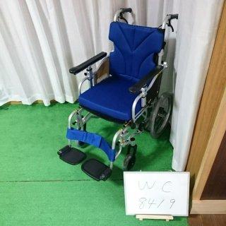 【Bランク品 中古 車椅子】カワムラサイクル 介助式車椅子 KZ16-40 (WC-8419)