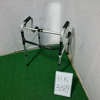 【Aランク品 中古 歩行器】ラックヘルスケア 固定型歩行器2段式ハンドル (HK-3389)