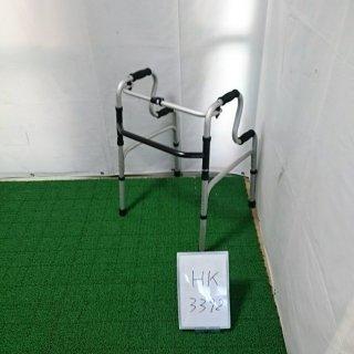 【Aランク品 中古 歩行器】ラックヘルスケア 固定型歩行器2段式ハンドル (HK-3392)