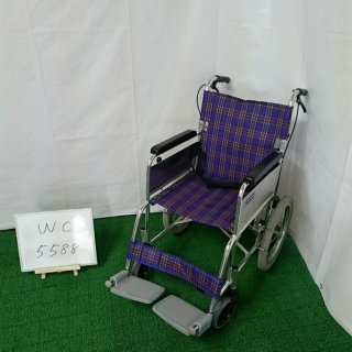 【Aランク品 中古 車椅子】カワムラサイクル 介助式車椅子 KA302SB-40 (WC-5588)