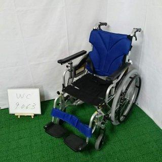 【Bランク 中古 車椅子】カワムラサイクル 自走式車椅子 KZM22-40 (WC-9063)