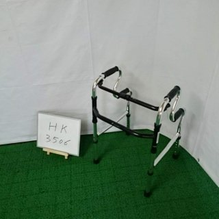 【Aランク品 中古 歩行器】シンエンス スリム立ち上がりフレームウォーカー固定型 WFM-4968R (HK-3506)