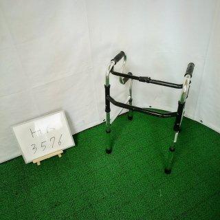 【Bランク品 中古 歩行器】シンエンス スリム立ち上がりフレームウォーカー固定型 WFM-4968R (HK-3576)