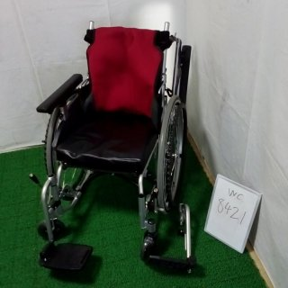 【Bランク 中古 車椅子】日進医療器 自走式車椅子 座王 NA-506W(WC-8421)