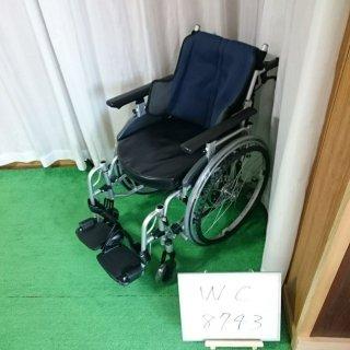 【Aランク 中古 車椅子】日進医療器 自走式車椅子 座王 NA-506W(青シート9(WC-8743)