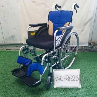【Bランク 中古 車椅子】ミキ 自走式車椅子 SKT-400B(ハンドリム欠品)(WC-8626)