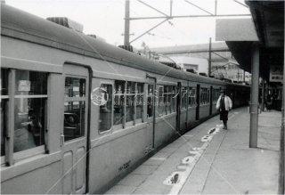 仙石線 仙台駅 地上ホーム 73系クモハ73307 昭和55 1980