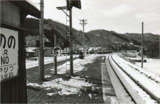 相野々駅 矢美津方面 秋田 北上線DC 昭和53 1978
