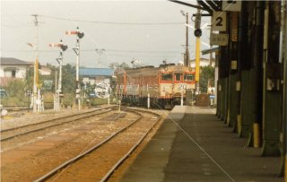 西若松駅 只見線 会津鉄道 昭和57 1982