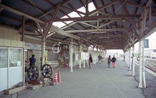 茨城交通 那珂湊駅ホーム ひたちなか海浜鉄道 平成13,2001