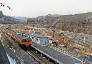 吾妻線 大前駅 国鉄 1983年1月
