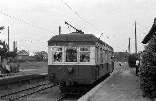 銚子電気鉄道 笠上黒生駅 デハ201 1965年7月