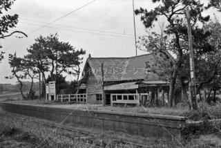 銚子電気鉄道 君ケ浜駅 1965年7月