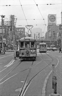 新橋停留所 6系統6204 1967年11月
