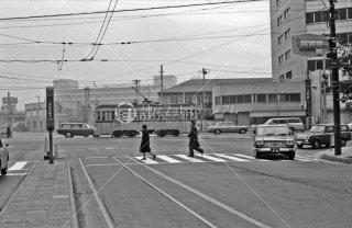 新橋 6系統新橋停留所から撮影4系統1000形 1967年11月