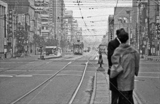 西新橋一丁目停留所 1967年11月
