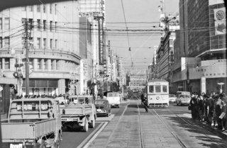銀座四丁目交差点 都電4系統 1967年12月