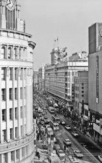 都電1系統銀座通り 銀座四丁目 1967年12月