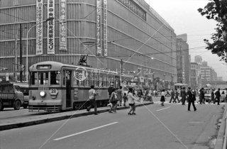 日本橋 都電28系統 東急百貨店 1972年3月
