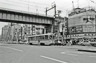 万世橋停所付近 都電24系統 1972年3月