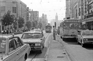 雷門停所 都電24系統 1972年8月
