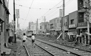 大久保車庫前付近 都電13系統 1968年6月