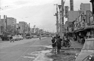 鍋屋横丁 都電14系統最終日 1963年11月