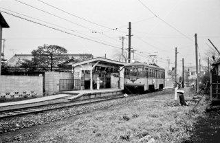 玉電 砧線 吉沢駅 デハ60形 No.62 1969年1月