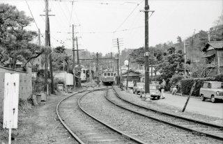 江ノ島鎌倉観光 極楽寺駅-稲村ヶ崎駅間 1969年3月