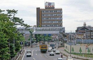 新潟交通白山前駅付近 1987年