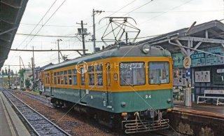 新潟交通 白根駅モハ24 1987年