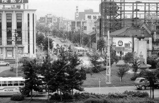 富山駅前 富山地方鉄道 富山軌道線 1976年