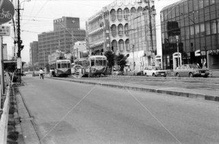 富山駅前停留所 富山地方鉄道 富山軌道線 1976年