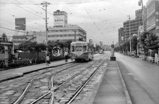 地鉄ビル前停留所 富山地方鉄道 富山軌道線 1976年8月