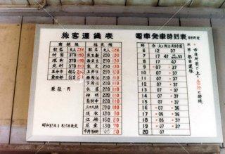 福井鉄道 田原町駅時刻表 昭和56年 1981年4月