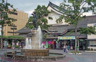 長野駅前 如是姫像 信越本線 平成4年 1992
