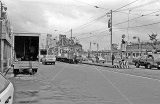 名鉄岐阜市内線 岐阜駅前停留所 モ513 1982年9月