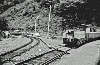 大井川鉄道 井川線 井川駅 1968年9月
