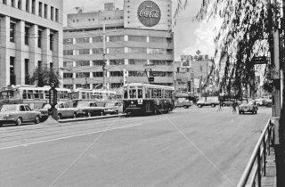 名古屋市電 広小路伏見停留所 2系統 1968年10月