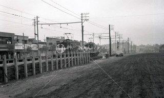 名古屋市東区清水 名鉄清水駅を左に見る 昭和41年 戸田信治