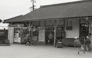 関西本線 弥富駅 旧駅舎 昭和43 1968